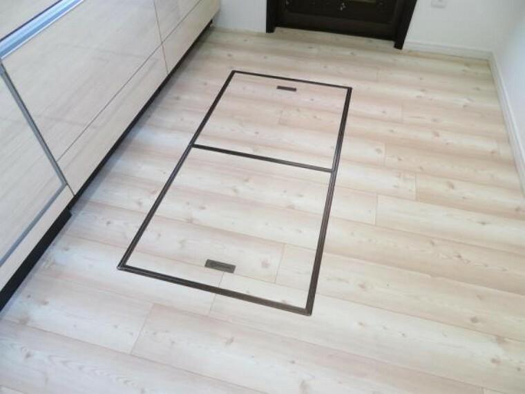 収納 床下収納もあります。