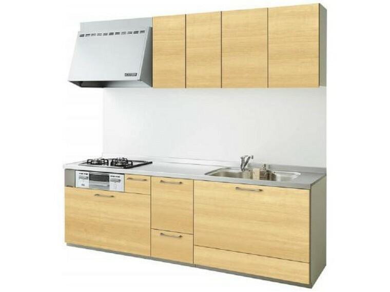 キッチン 【同仕様写真】キッチンは永大産業製のものを新設します。水はねを抑える静音シンクを標準採用。家族との会話を妨ぎません。