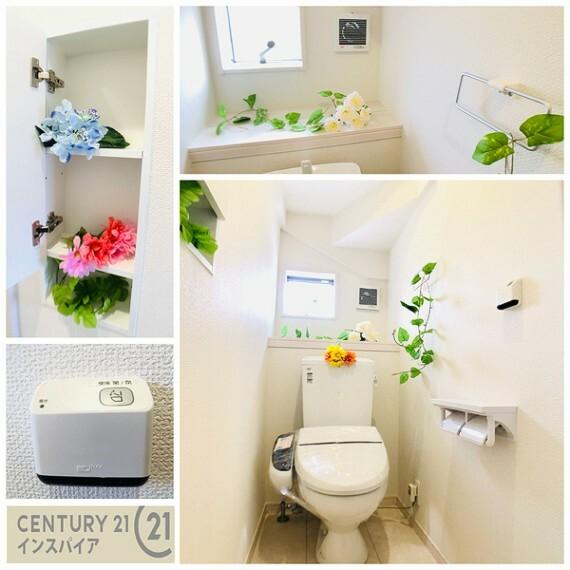 トイレ トイレ収納は扉付きでスッキリ見えます!高さ調整できて便利です! 同社他物件の写真です、参考にして下さい!