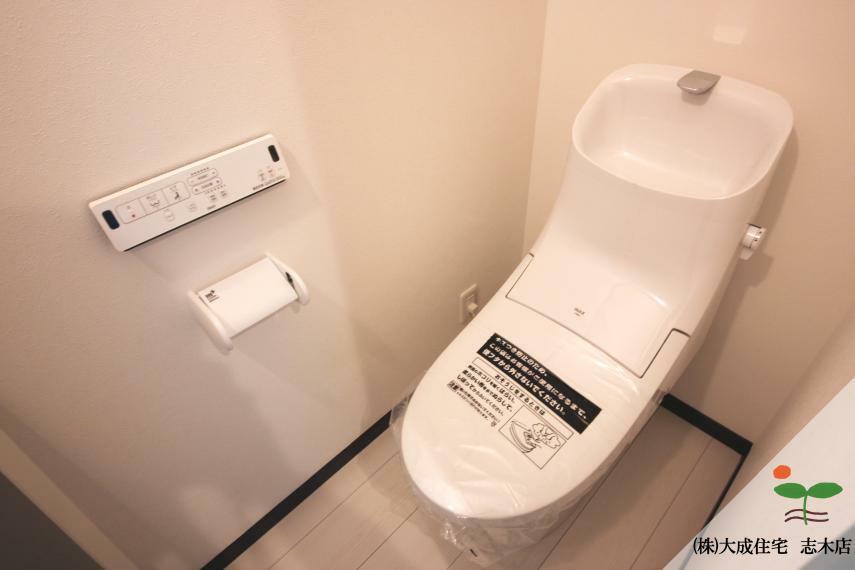 トイレ シャワートイレ完備^^ 1号棟:現地写真2020.6.18撮影