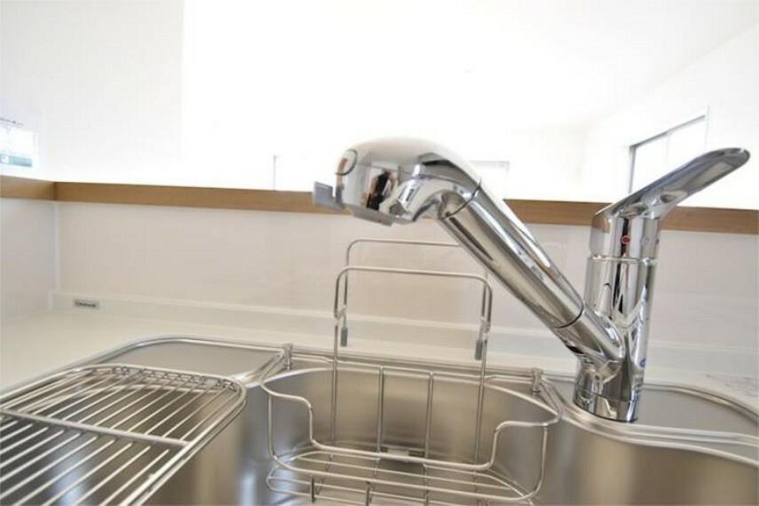キッチン 【施工例】浄水器一体型水栓シャワー