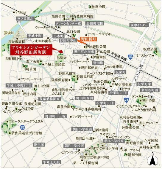 土地図面 【現地広域案内図】
