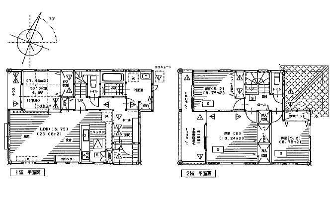 間取り図 2180万円、4LDK、土地面積155.05m2、建物面積99.36m2