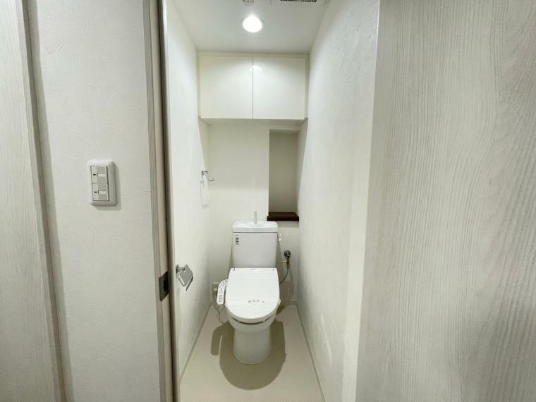 トイレ 温水洗浄便座付きです