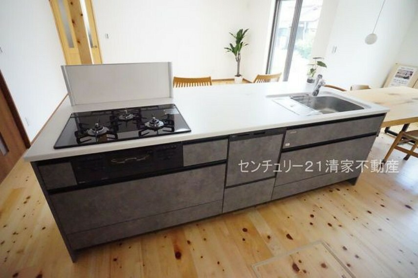 キッチン B号棟:忙しい奥様に嬉しい食洗機完備!(2021年07月撮影)