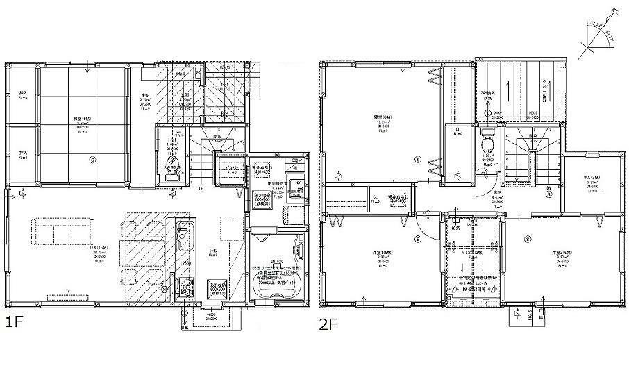 間取り図 2580万円、4LDK、土地面積142.86m2、建物面積112.08m2