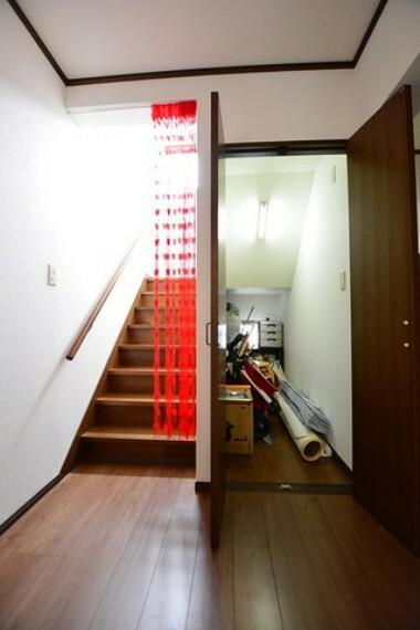 収納 階段下収納も大容量です。