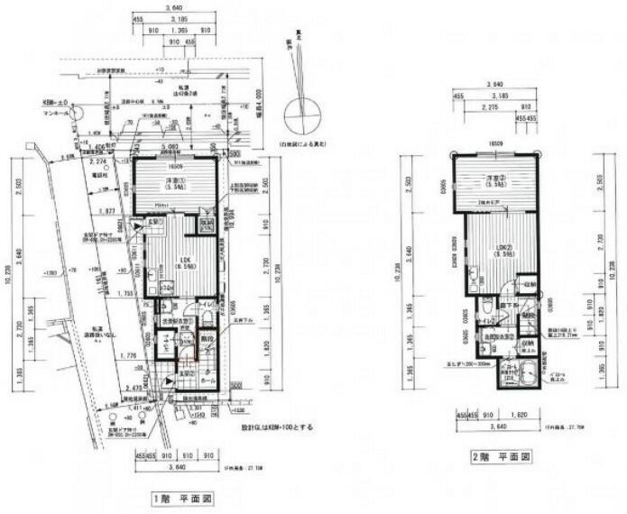 間取り図 間取り図です。 2階建て 2LDK!
