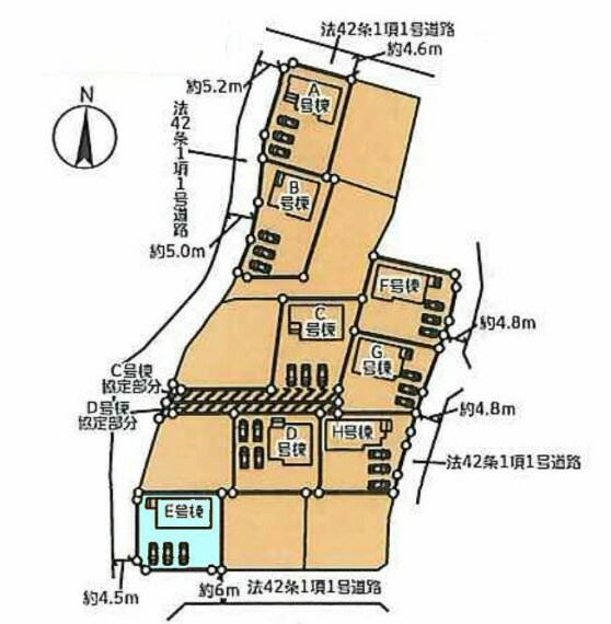 区画図 E号棟