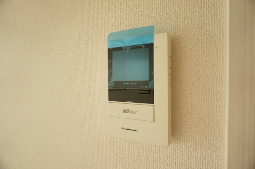 TVモニター付きインターフォン 同社施工イメージ。実際とは異なる場合がございます。