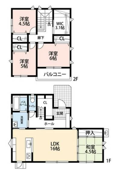 間取り図 各室収納にファミリークローク、シューズクロークなど収納が充実しています^^