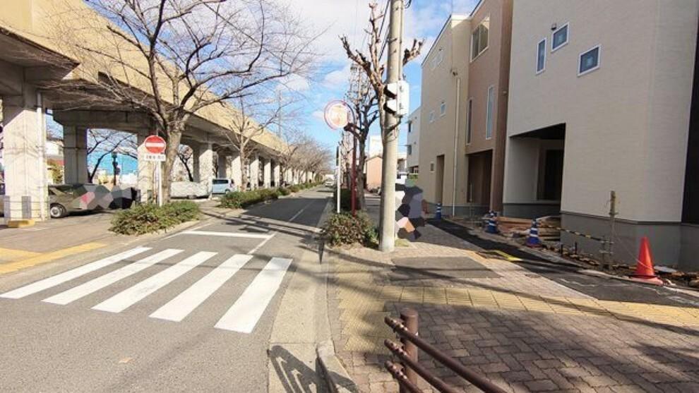 現況写真 接道状況および現場風景 【名古屋市北区芳野3丁目】