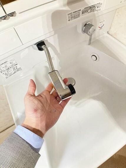 洗面化粧台 シャワー付きの洗面台