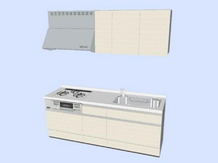 キッチン 【同仕様写真】キッチンはハウステック製の新品に交換します。天板は熱や傷にも強い人工大理石仕様なので、毎日のお手入れが簡単です。