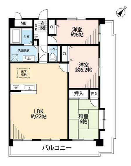 間取り図 LDKと和室を合わせると28帖の大空間となります。内覧も出来ますのでお気軽にお問い合わせください^^