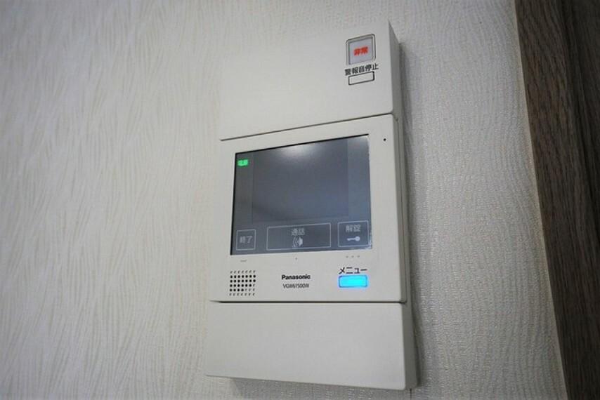 防犯設備 防犯性もばっちり、TVモニター付きインターフォン完備。