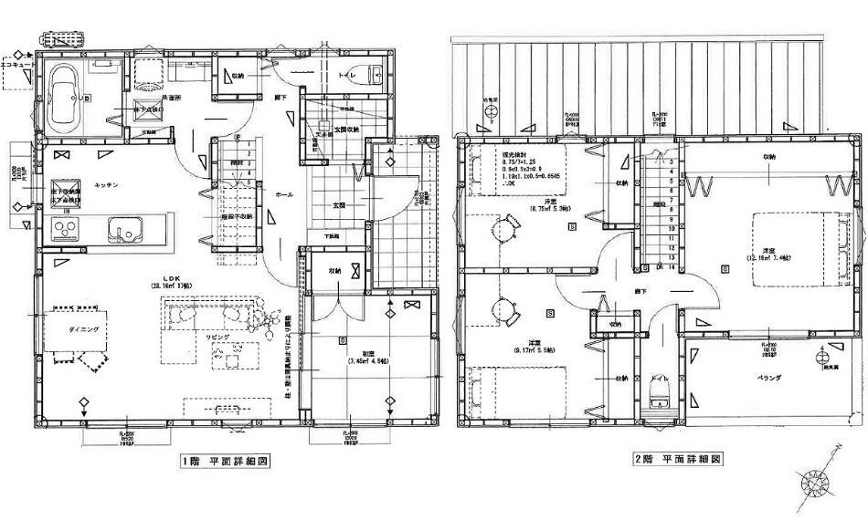 間取り図 2750万円、4LDK、土地面積132.19m2、建物面積99.15m2 JR下深川駅徒歩7分