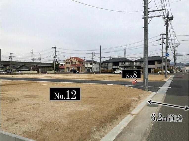現況写真 12号地より北西を向いて撮影しました。(2021年3月撮影)