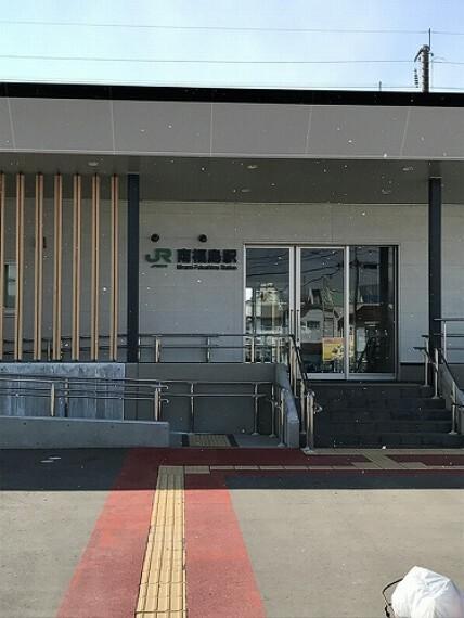 東北本線「南福島駅」まで約1300m(徒歩17分)。自転車6分、駅を使っての通勤通学に便利です。(2021年3月撮影)