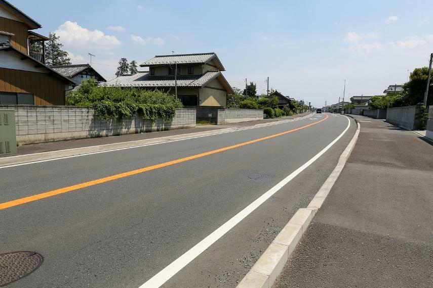 現況写真 前面道路を南方向に撮影