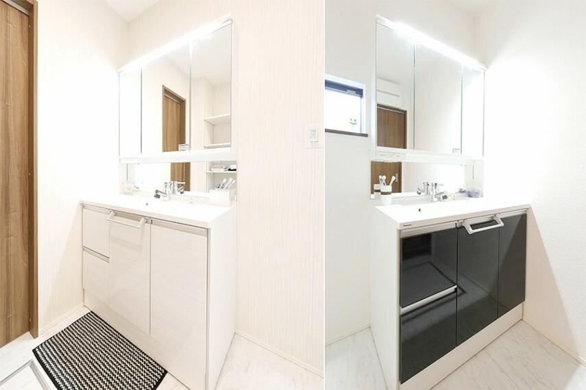 ドレッサー/Panasonic「シーライン」  ゆとりある洗面スペースとスタイリッシュなデザインが魅力的な洗面化粧台。