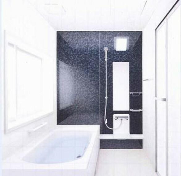 【同仕様写真・浴室】浴室は間取り変更し1.25坪の浴室に。広い浴室は戸建て住宅の魅力の一つ。お子様との入浴でもゆとりのあるバスタブは、一日の疲れを癒しサッパリできますね