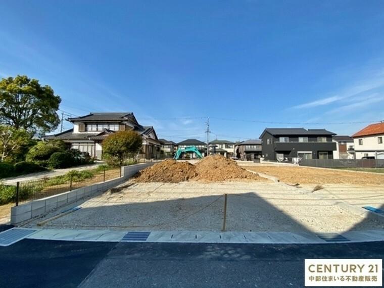 現況外観写真 豊田市【西中山町】全4棟の新築住宅の誕生です!!現地案内会実施中です。お気軽にお問い合わせください。