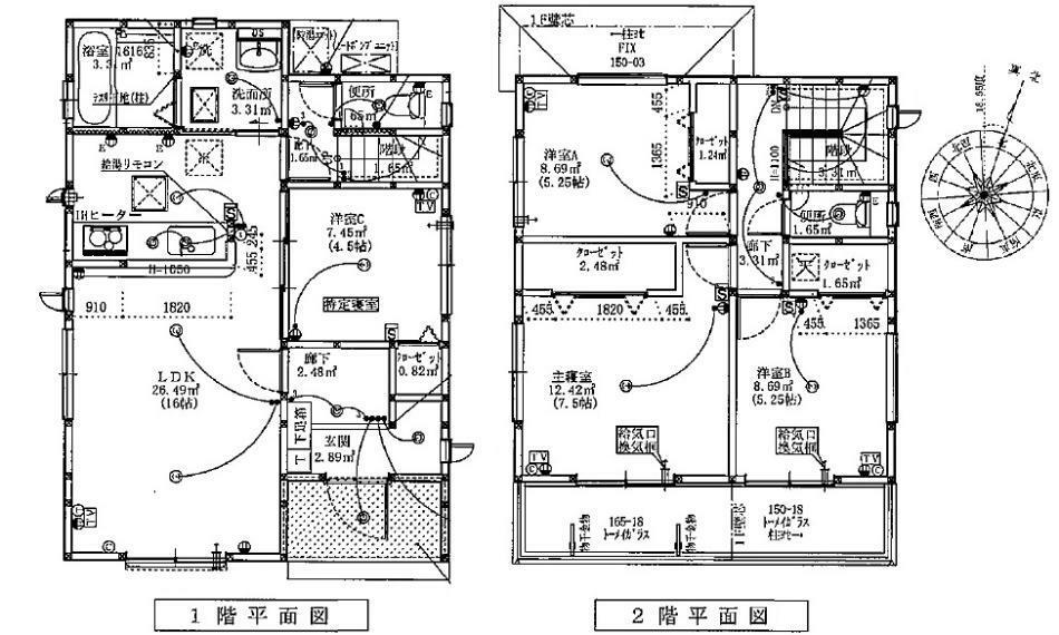 間取り図 2790万円、4LDK、土地面積126.75m2、建物面積95.22m2