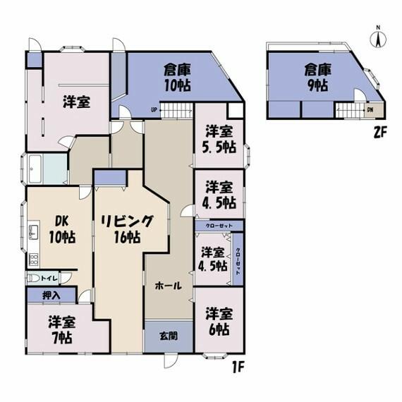間取り図 敷地面積:361.13平米(109.25坪) 建物面積:157.03平米(47.50坪)