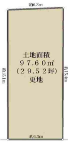 土地図面 29.52坪 建築条件無し お好きなハウスメーカー・工務店で建築できます