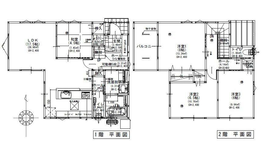 間取り図 2790万円、4LDK、土地面積130.24m2、建物面積101.02m2 JR中深川駅徒歩9分