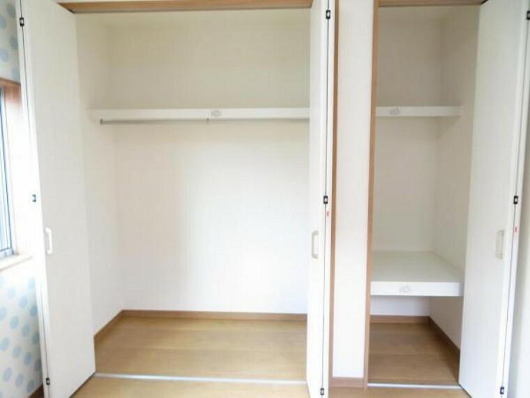 収納 整理しやすいクローゼット。お部屋を広く使えます。