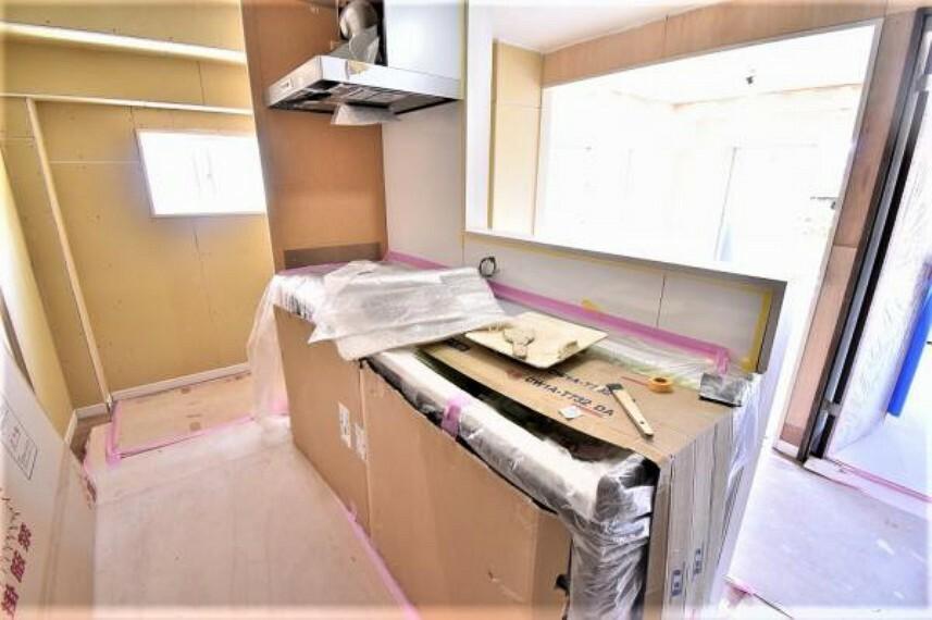 キッチン キッチンリフォーム途中 2021.4.23 撮影