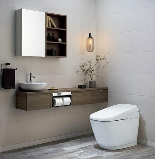 トイレ 【同仕様タンクレストイレ】 水道代節約!(造り付け収納、鏡、吊るし照明器具等は含みません。)