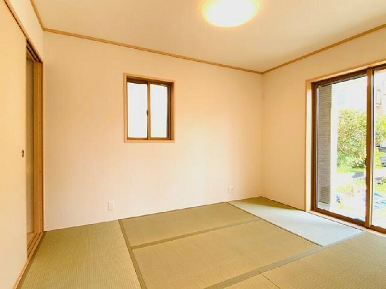 C号棟 和室~同仕様施工例~・・・リビングと繋げることのできる和室は客室やリビングの一部など様々な用途で使うことができて便利です!