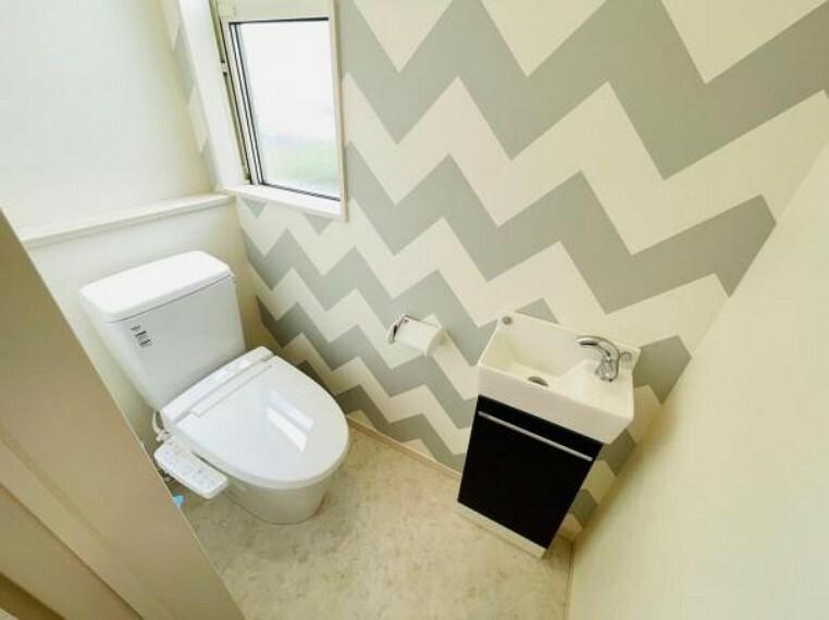 トイレ すぐに手が洗えて清潔!