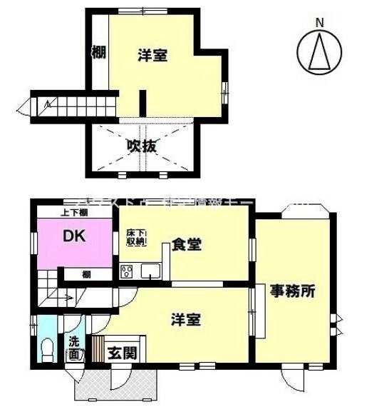 間取り図 知多市日長字穴田 名鉄常滑線 長浦駅 徒歩9分。