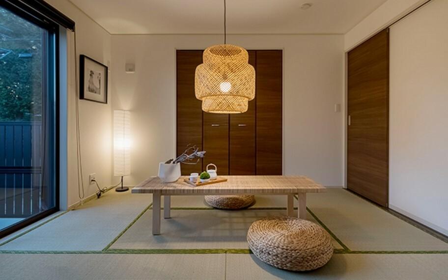 完成予想図(内観) 当社分譲施工例:洋室畳敷き