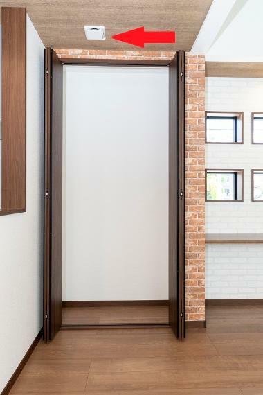 冷暖房・空調設備 【第一種換気システム】PM2.5も通さないパナソニック製24時間換気システム採用!いつでも新鮮で爽やかな室内環境を実現!