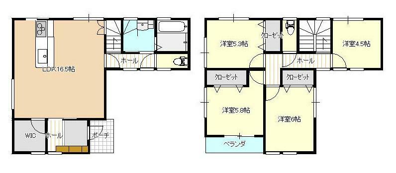間取り図 3580万円、4LDK、土地面積117.29m2、建物面積97.3m2 JR緑井電停徒歩9分