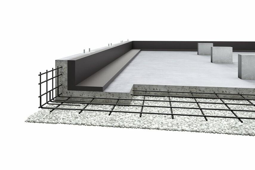 参考プラン完成予想図 (1)液状化に強い、建物を面で支えるベタ基礎