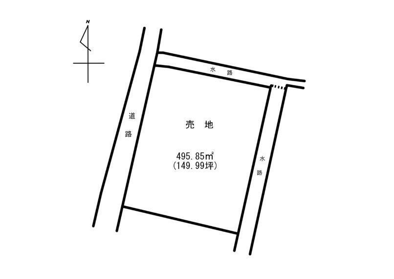 区画図 149坪と広く平屋も建てられます(*^^*)
