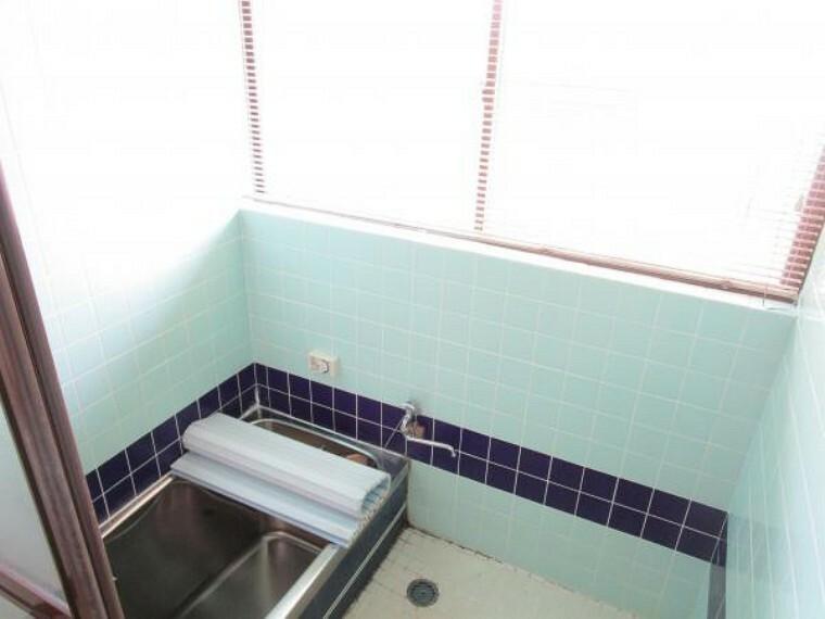 浴室 【リフォーム中】お風呂は1坪タイプのユニットバスを新設します。