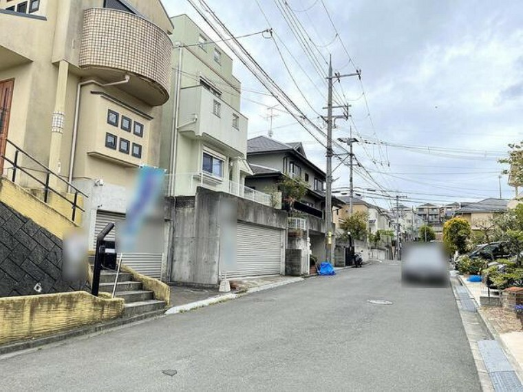 現況写真 現地前面道路写真 (2021.4.16撮影)