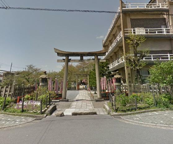 周辺の街並み 六孫王神社
