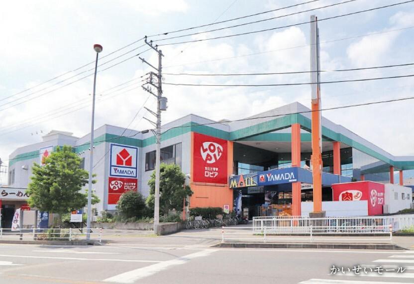 ショッピングセンター 家電量販店や食品スーパー、生活雑貨品店など様々なお店が揃うショッピングモールです。
