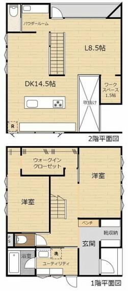 間取り図 建築家のつくる家。デザイン・性能が手に取るようにわかります。