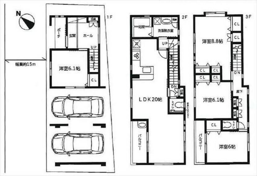 間取り図 2階LDKのためプライバシーが確保されています。収納豊富な間取りです。