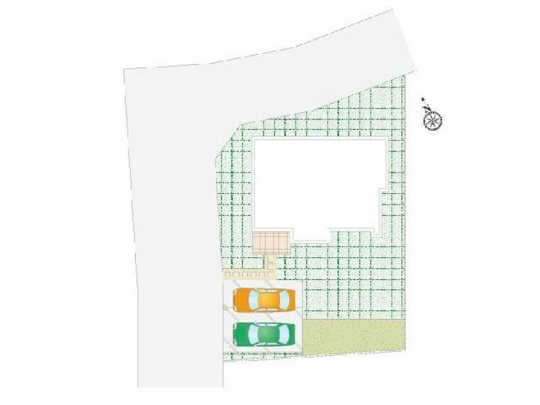 区画図 A号棟:区画図・・・並列2台駐車可能です。