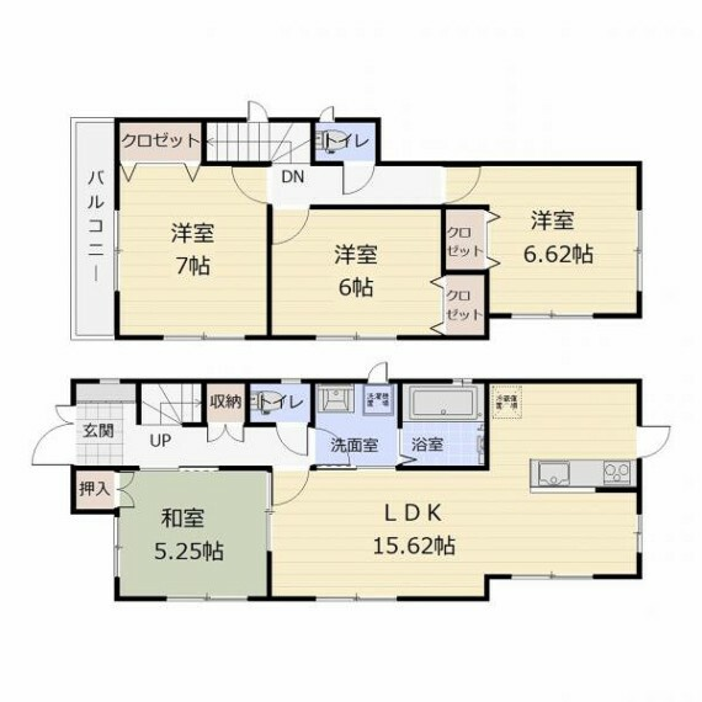 間取り図 ・1・2階にトイレあり。
